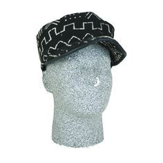 Black & White Mud Cloth Hat - ASSORTED - Hats and Headwear - African Fashion | Africa Imports