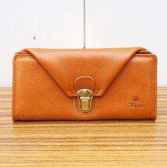 (2993649)ヌメ革|差し込み金具付き 長財布