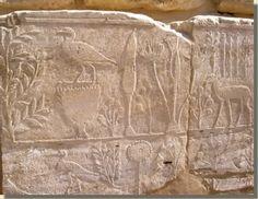 """The botanical garden"" , temple of Thutmose III, Karnac, 140 BC."