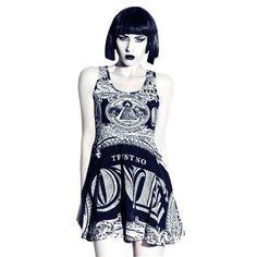 Dollar skater dress with pyramid print www.attitudeholland.nl #occult #killstar #pyramid #dollar