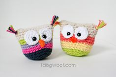 One Dog Woof: Crochet Owl Pouch Buddies - Free Pattern!