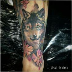 wolf lobo aquarela tattoo