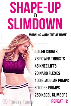 Shape and slimdown at home for women. #ab_workouts