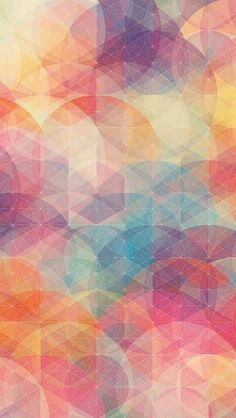 Soft multicolor geometrics wallpaper