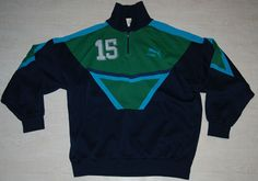 c2788722f06a Vintage puma disco space tracksuit top jumper sweatshirt ibiza blue green m  l