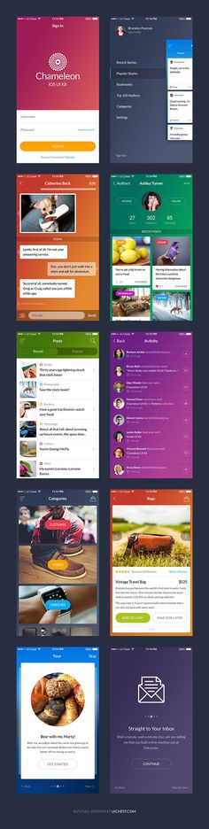 The freebie of the day is Chameleon, a modern UI kit perfect to use for creating a stylish and clean mobile app. Mobile App Design, Mobile Ui, Ui Kit, App Ui, Chameleon, Free Samples, Ui Design, Sketch, Website