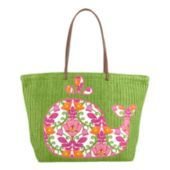 Available at Especially For You in Circleville!  Our lightest, easiest-to-pack tote yet, this roomy bag goes from beach to boardwalk with style. Each solid-colored tote features one of five whimsical sea-inspired designs - a Plum Crazy crab, a Tutti Frutti fish, a Sun Valley turtle, a Lilli Bell whale or a Marina Paisley anchor.