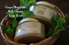Lazy Daisy Soap Co  Ginger Mint Goat Milk Creamy Sugar Scrub This stuff is amazing! Great exfoliation and moisturizing without the oily mess! And the smell is awesome!