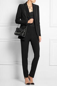 Stella McCartney The Falabella mini snake-effect faux leather shoulder bag NET-A-PORTER.COM