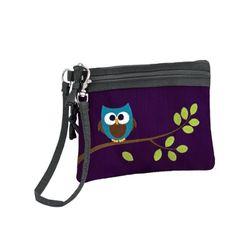 Owl 2 Zip Wristlet