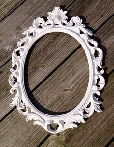 Any color Baroque oval picture frame open scatter by JaxandJos, $45.00