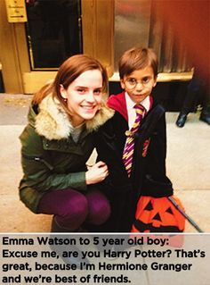 """The Easiest Last-Minute Halloween Costume Idea Your Kids Will Be Thrilled to Wear Mini Harry Potter (Warning: Doesn't Include Emma Watson!) """"Are you Harry Potter?"""" she asked. """"Well, I'm Hermione Granger, and we're the best of friends. Hollywood Stars, Old Hollywood, Hollywood Actor, Young Harry Potter, Estilo Harry Potter, Harry Potter Film, Katharine Hepburn, Audrey Hepburn, Hermione Granger"""