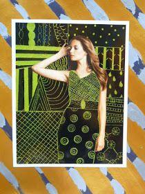 Portret geinspireerd op Gustav Klimt