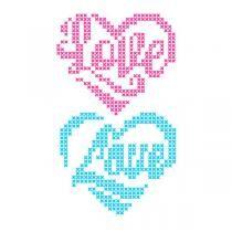 Cross Stitch Love Heart SVG Cuttable Design