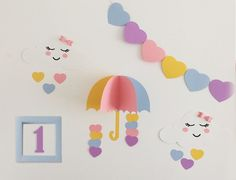 Painel Decorativo Chuva de Amor Diy Arts And Crafts, Paper Crafts, Diy Crafts, File Decoration Ideas, Cute Kids Photography, Gifts For Dentist, Baby Birthday Cakes, Diy Birthday Decorations, Dream Baby