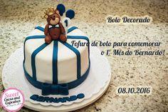 Sweet Cucas and Cupcakes by Rosângela Rolim: Bolo Decorado Tema Urso