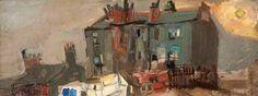 Joan Eardley - Glasgow Tenements, Oil on board, x 31 cm, Hunterian Art Gallery, University of Glasgow. Landscape Art, Landscape Paintings, Urban Landscape, Landscapes, Glasgow School Of Art, List Of Artists, Art Uk, Your Paintings, Paint Designs