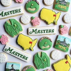 The Masters ⛳️ golf cookies
