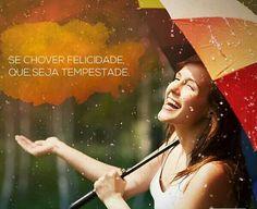 """#Sombrinhas  """" Lá Fora está #Chovendo... #Chove #Chuva Chove sem parar..."""