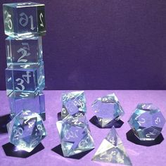 Optically Clear Acrylic Gaming Dice by Artisan Dice