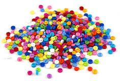 Mini round shape plastic buttons, 6*2 mm, 11 colors, 150 pcs  Пластиковые мини-пуговицы, 6*2 мм, 11 цветов, 150 шт