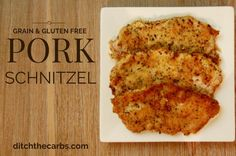 Almond and Herb Crusted Schnitzel via @ditchthecarbs