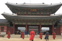 Kyongbok Palace - Seoul, Korea.  I loved visiting the home of my daughter-in-law.  2011