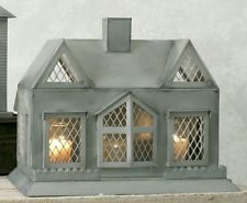 CHARMING TUDOR CANDLE HOUSE CANDLE HOLDER by COLONIAL TIN WORKS