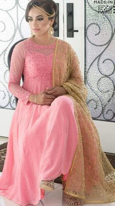 Baby Pink #Anarkhali designed by Wellgroomed.