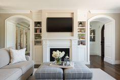 Bright and fresh luxury living room designed by Lisman Studio Interior Design Firm.