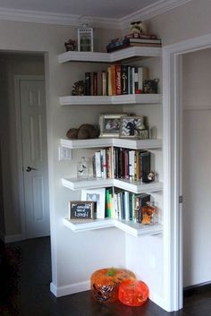 Creative Storage Design For Small Spaces Bedroom Ideas. Diy Bedroom Ideas For Small Rooms Small Bedroom Storage, Small Space Bedroom, Small Room Design, Small Space Storage, Diy Storage Ideas For Small Bedrooms, Storage Ideas Living Room, Organizing Small Bedrooms, Office Storage Ideas, Corner Shelves Bedroom