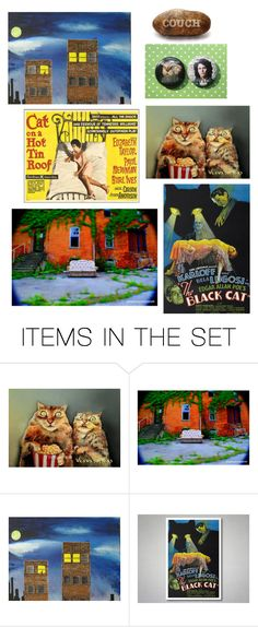 """""""Saturday Afternoon"""" by stonesongspirit ❤ liked on Polyvore featuring art, fun, movies, movieNight, cat and artflashmob15"""