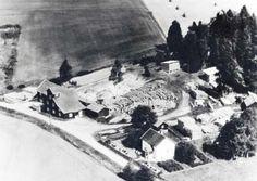 Fotografi som visar Granby kvarn och såg från luften.