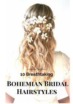 Is your wedding going to be a Boho inspired wedding? If so then check out these 10 breathtaking bohemian hairstyle to go with the theme of your wedding. There is nothing more beautiful than natural hairstyles.