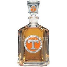 I don't drink but would LOVE to fill this with water and orange food coloring!!! Tennessee Volunteers Glass Decanter
