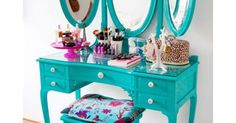 Tray Chic, How to DIY Your Dream Vanity Looking for ones this furniture pieces to add to my room collection, very vintage. Love them.
