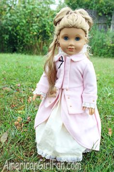 Excellent American Girl Doll Hairstyle Crown Braided Pigtails American Short Hairstyles Gunalazisus