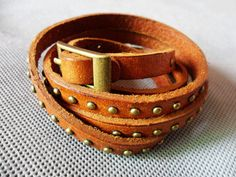 Cool Adjustable Brown Real Leather with by jewelrybraceletcuff, $9.98