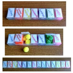 Learning Place Value with Pompoms and Pill Boxes.  come learn how to make this multisensory activity!