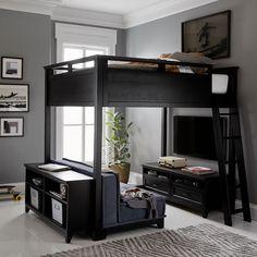Design Room, Home Design, Smart Design, Design Design, Design Ideas, Boys Loft Beds, Loft Beds For Teens, Loft Beds For Small Rooms, Cool Bedrooms For Boys