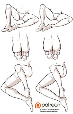 Male and Female legs reference sheet by Kibbitzer