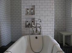 white tile dark grout