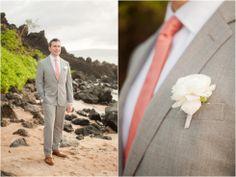 Maui Beach Wedding, Maui Elopement, Maui Wedding Photography, Maui Elopement Photography, Wailea, Groom Posing, Groom, Wedding Details, naomilevit.com
