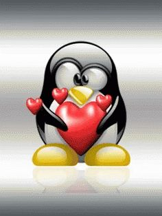 Penguin Heart GIF - Penguin Heart - Discover & Share GIFs