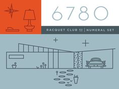 Working on a new set of numerals inspired by the Alexander Construction Co. homes in Palm Springs.