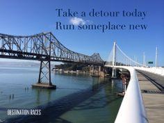 Bay Bridge morning run #destinationraces #WineCountryHalf #trainingday