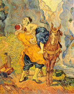 The Good Samaritan From St. Remy Painting By Vincent Van Gogh Repro