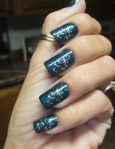 Teal+stamped+by+DianeGraham+-+Nail+Art+Gallery+nailartgallery.nailsmag.com+by+Nails+Magazine+www.nailsmag.com+#nailart