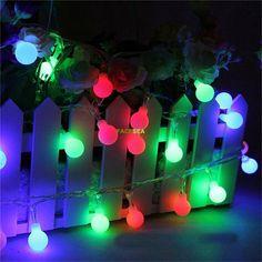 10M 100 LEDs 220V Outdoor Multicolor LED String Lights Christmas Lights Holiday Wedding party decotation RGB Ball LED String