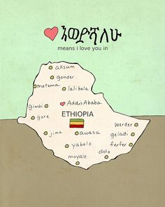 Children Decor Wall Art Map // I Love You in by Lisa Barbero,